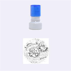 Panic! At The Disco Lyric Quotes Rubber Round Stamps (small) by Onesevenart