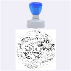 Panic! At The Disco Lyric Quotes Rubber Round Stamps (large) by Onesevenart