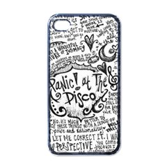 Panic! At The Disco Lyric Quotes Apple Iphone 4 Case (black) by Onesevenart