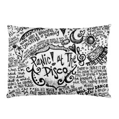 Panic! At The Disco Lyric Quotes Pillow Case (two Sides) by Onesevenart