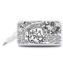 Panic! At The Disco Lyric Quotes Portable Speaker (White)