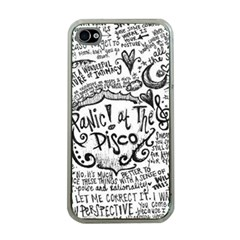 Panic! At The Disco Lyric Quotes Apple Iphone 4 Case (clear) by Onesevenart