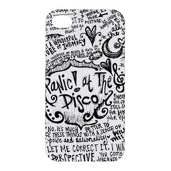 Panic! At The Disco Lyric Quotes Apple Iphone 4/4s Hardshell Case by Onesevenart