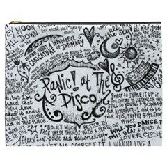 Panic! At The Disco Lyric Quotes Cosmetic Bag (xxxl)  by Onesevenart