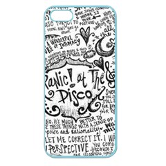 Panic! At The Disco Lyric Quotes Apple Seamless Iphone 5 Case (color) by Onesevenart