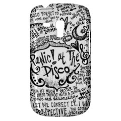 Panic! At The Disco Lyric Quotes Samsung Galaxy S3 Mini I8190 Hardshell Case by Onesevenart
