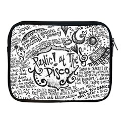 Panic! At The Disco Lyric Quotes Apple Ipad 2/3/4 Zipper Cases by Onesevenart