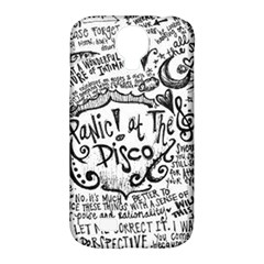 Panic! At The Disco Lyric Quotes Samsung Galaxy S4 Classic Hardshell Case (pc+silicone) by Onesevenart