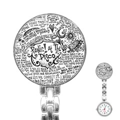 Panic! At The Disco Lyric Quotes Stainless Steel Nurses Watch by Onesevenart