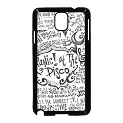 Panic! At The Disco Lyric Quotes Samsung Galaxy Note 3 Neo Hardshell Case (black) by Onesevenart