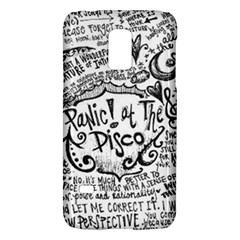 Panic! At The Disco Lyric Quotes Galaxy S5 Mini by Onesevenart