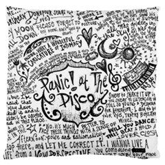 Panic! At The Disco Lyric Quotes Large Flano Cushion Case (one Side) by Onesevenart