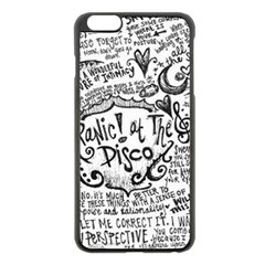 Panic! At The Disco Lyric Quotes Apple Iphone 6 Plus/6s Plus Black Enamel Case by Onesevenart