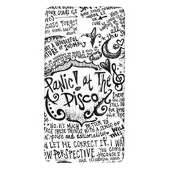 Panic! At The Disco Lyric Quotes Galaxy Note 4 Back Case by Onesevenart