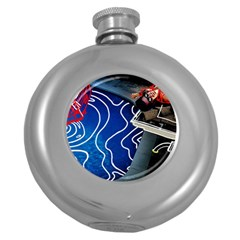 Panic! At The Disco Released Death Of A Bachelor Round Hip Flask (5 Oz) by Onesevenart