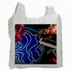 Panic! At The Disco Released Death Of A Bachelor Recycle Bag (one Side) by Onesevenart