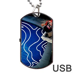 Panic! At The Disco Released Death Of A Bachelor Dog Tag Usb Flash (one Side) by Onesevenart