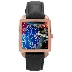 Panic! At The Disco Released Death Of A Bachelor Rose Gold Leather Watch  by Onesevenart
