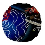 Panic! At The Disco Released Death Of A Bachelor Large 18  Premium Flano Round Cushions