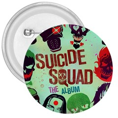 Panic! At The Disco Suicide Squad The Album 3  Buttons by Onesevenart