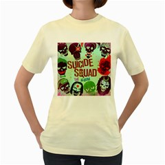 Panic! At The Disco Suicide Squad The Album Women s Yellow T Shirt by Onesevenart