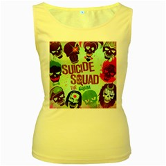 Panic! At The Disco Suicide Squad The Album Women s Yellow Tank Top by Onesevenart