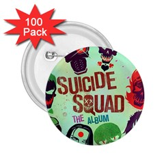 Panic! At The Disco Suicide Squad The Album 2 25  Buttons (100 Pack)  by Onesevenart