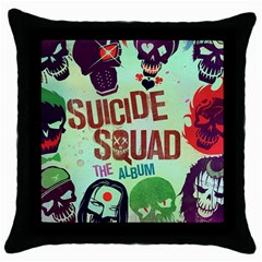 Panic! At The Disco Suicide Squad The Album Throw Pillow Case (black) by Onesevenart