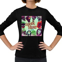 Panic! At The Disco Suicide Squad The Album Women s Long Sleeve Dark T Shirts by Onesevenart