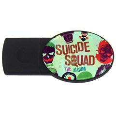 Panic! At The Disco Suicide Squad The Album Usb Flash Drive Oval (4 Gb)  by Onesevenart