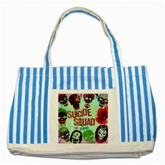 Panic! At The Disco Suicide Squad The Album Striped Blue Tote Bag by Onesevenart