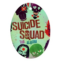 Panic! At The Disco Suicide Squad The Album Oval Ornament (two Sides) by Onesevenart