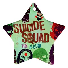 Panic! At The Disco Suicide Squad The Album Star Ornament (two Sides)  by Onesevenart
