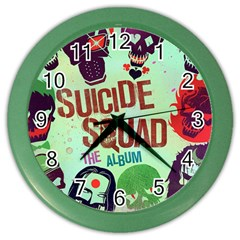 Panic! At The Disco Suicide Squad The Album Color Wall Clocks by Onesevenart