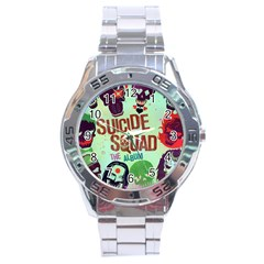 Panic! At The Disco Suicide Squad The Album Stainless Steel Analogue Watch by Onesevenart
