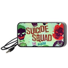 Panic! At The Disco Suicide Squad The Album Portable Speaker (black)  by Onesevenart