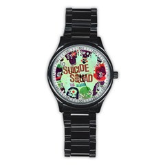Panic! At The Disco Suicide Squad The Album Stainless Steel Round Watch by Onesevenart