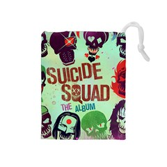 Panic! At The Disco Suicide Squad The Album Drawstring Pouches (medium)  by Onesevenart