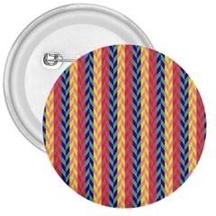 Colorful Chevron Retro Pattern 3  Buttons by DanaeStudio