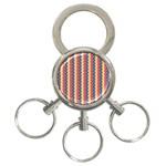 Colorful Chevron Retro Pattern 3-Ring Key Chains
