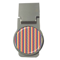 Colorful Chevron Retro Pattern Money Clips (round)  by DanaeStudio