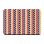 Colorful Chevron Retro Pattern Small Doormat