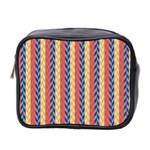 Colorful Chevron Retro Pattern Mini Toiletries Bag 2-Side