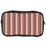 Colorful Chevron Retro Pattern Toiletries Bags