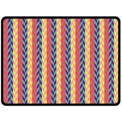 Colorful Chevron Retro Pattern Fleece Blanket (large)  by DanaeStudio