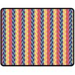 Colorful Chevron Retro Pattern Fleece Blanket (Medium)