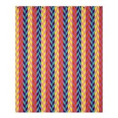 Colorful Chevron Retro Pattern Shower Curtain 60  X 72  (medium)  by DanaeStudio