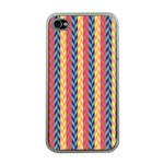 Colorful Chevron Retro Pattern Apple iPhone 4 Case (Clear)