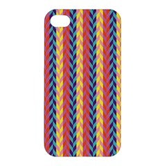 Colorful Chevron Retro Pattern Apple Iphone 4/4s Hardshell Case by DanaeStudio