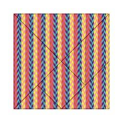 Colorful Chevron Retro Pattern Acrylic Tangram Puzzle (6  X 6 ) by DanaeStudio